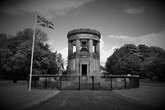 War memorial. This is in one of my local parks. It commemorates both world wars stock image