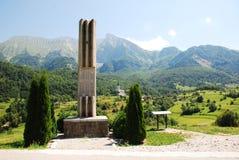 War Memorial Outside Dreznica Stock Images