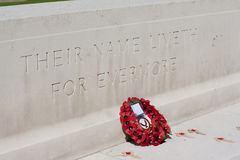 War memorial with poppies Royalty Free Stock Photo