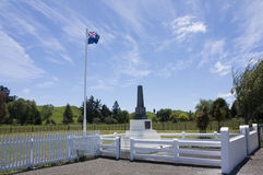 War Memorial, Rangiwahia. War Memorial in the small town of Rangiwahia, New Zealand Royalty Free Stock Photography