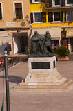War Memorial in Salo on Lake Garda Italy Stock Photography