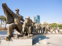 War memorial statue in Seoul, South Korea royalty free stock photography