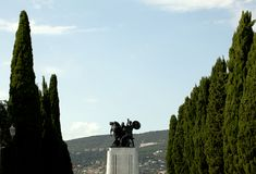War memorial in St. Giusto hill, Trieste Stock Images