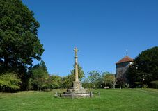 Free War Memorial & St Mary The Virgin Church, Stopham, Sussex, UK Royalty Free Stock Images - 159740809