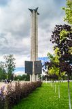The War Memorial on the Tmaka river embankment in the city of Tver, Russia. Royalty Free Stock Photo