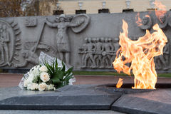 War memorial in tyumen Royalty Free Stock Image