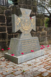 War memorial Victoria Cross. This stone was erected on behalf of the people of Glasgow to commemorate Glaswegians who were awarded the Victoria Cross for valour Stock Images