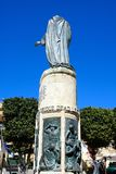 War memorial, Victoria, Gozo. War memorial statue in Independence Square Pjazza I-Indipendenza, Victoria Rabat, Gozo, Malta, Europe Royalty Free Stock Image