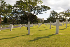 War military cemetery in Back lighting Royalty Free Stock Images