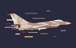 War military plane vector illustration. War airplane sky force fighter vector silhouette. War plane  flying on background. War military airplane vector Royalty Free Stock Photography