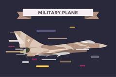 War military plane vector illustration Royalty Free Stock Photo