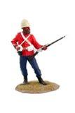 War miniature ,soldier. Painted figure ,Zulu war soldier ,sergeant,miniature 24ft Royalty Free Stock Photo