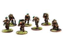 War miniatures , painted,second world war, WWII. War miniatures , second world war ,  soldiers painted , isolated on white background Royalty Free Stock Image