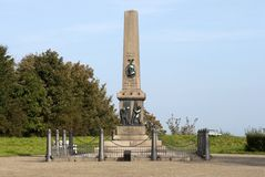 War monument in Fredericia Royalty Free Stock Photo