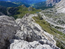 War monument in passo valparola and hexenstein Royalty Free Stock Images