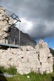 War monument in passo valparola and hexenstein Stock Images