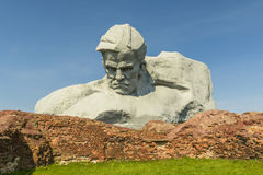 War monument to the brave, Brest fortress, Belarus. World War II Stock Photo