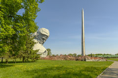 War monument to the brave, Brest fortress, Belarus. World War II Royalty Free Stock Photo