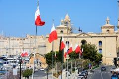 War museum, Vittoriosa. View leading towards the war museum and marina waterfront, Vittoriosa Birgu, Malta, Europe Royalty Free Stock Photos