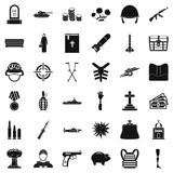 War offence icons set, simple style Stock Images