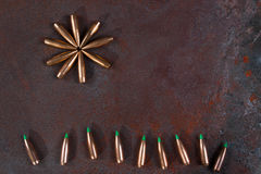 War and Peace, Sun and grass from bullets. Stock Images
