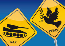 War and Peace. Vektor Illustration with icon images royalty free illustration