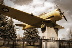 War Plane Monument Stock Image