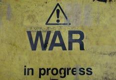 War in progress sign Royalty Free Stock Image