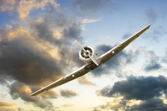 War propeller fighter plane Stock Photography