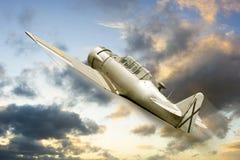 War propeller fighter plane Stock Photos