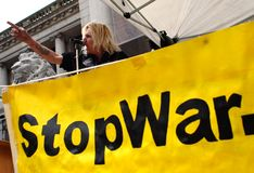 War protest Royalty Free Stock Photography
