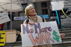 War protest Stock Photo