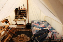 War re-enactment camp showing surgeons quarters,Ge Royalty Free Stock Photos