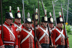 War of 1812 reenactment-Canada Day Royalty Free Stock Photo