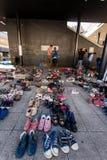 War refugees at the Keleti Railway Station Stock Image