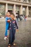 War refugees at the Keleti Railway Station Royalty Free Stock Photos