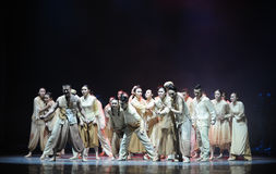 The war refugees-The third act of dance drama-Shawan events of the past Royalty Free Stock Photo