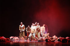 The war refugees-The third act of dance drama-Shawan events of the past Stock Images