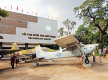 War Remnants Museum. The War Remnants Museum is operated by the Vietnamese government and reflects their point Royalty Free Stock Photo