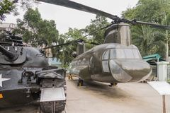War Remnants Museum in Ho Chi Minh City former Saigon. In Vietnam royalty free stock photos