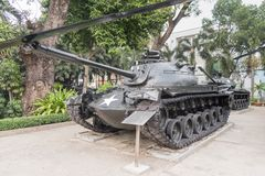 War Remnants Museum in Ho Chi Minh City former Saigon. In Vietnam royalty free stock photography