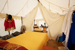 War of 1812 or Rev War Tent Interior of an Officer Stock Image