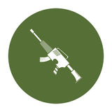 War rifle badge for soldiers navy tool Stock Image