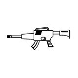 War rifle figure for soldiers navy tool. Illustration Stock Photography
