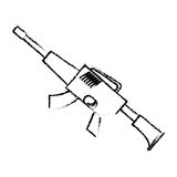 War rifle silhouette for soldiers navy tool Royalty Free Stock Photography