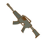 War rifle for soldiers navy tool Stock Photos