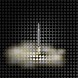 War rocket takes off on a transparent background. 3d illustration Royalty Free Stock Photos