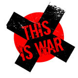 This Is War rubber stamp Royalty Free Stock Photography