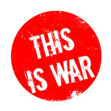 This Is War rubber stamp Royalty Free Stock Image