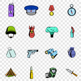 War set icons Stock Image